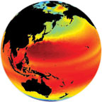 sea level glode image